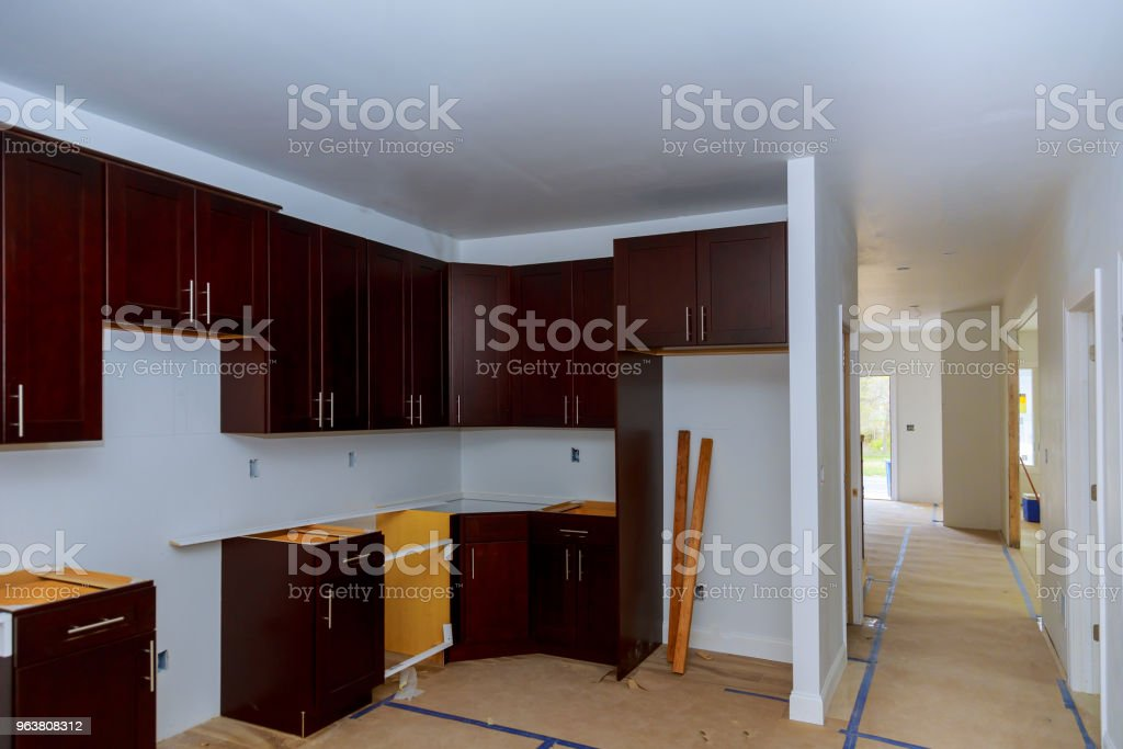 Working On New Kitchen Cabinets Home Improvement Kitchen ...