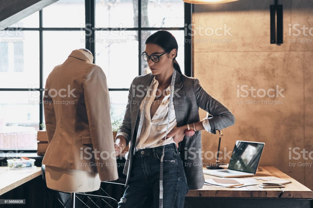Working on new order. stock photo