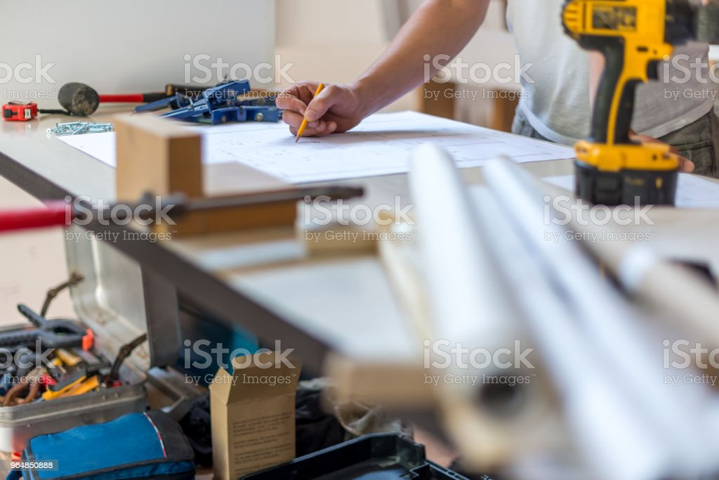 Working on new project royalty-free stock photo