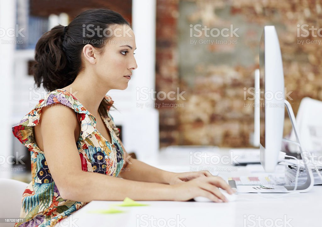 Working on project deadlines royalty-free stock photo
