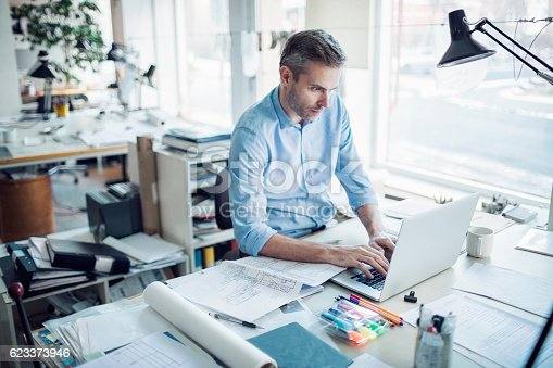 istock Working on project. 623373946