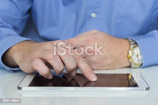 istock Working on tablet 533176941