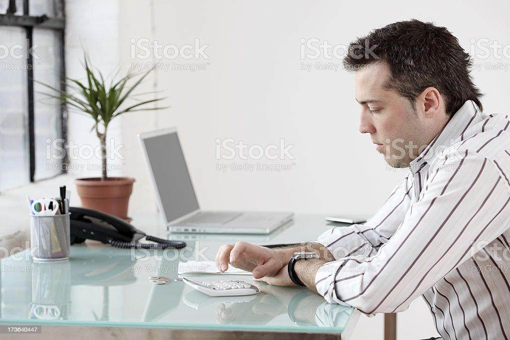 Working on the budget royalty-free stock photo