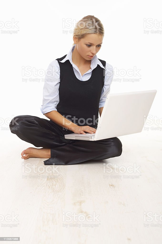 Working on the floor royalty-free stock photo