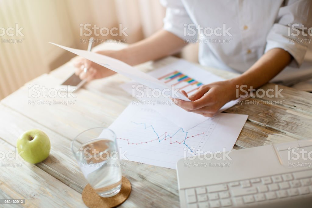 Working on the new project royalty-free stock photo