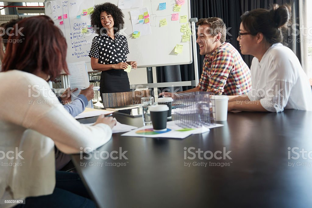 Working on their brand stock photo
