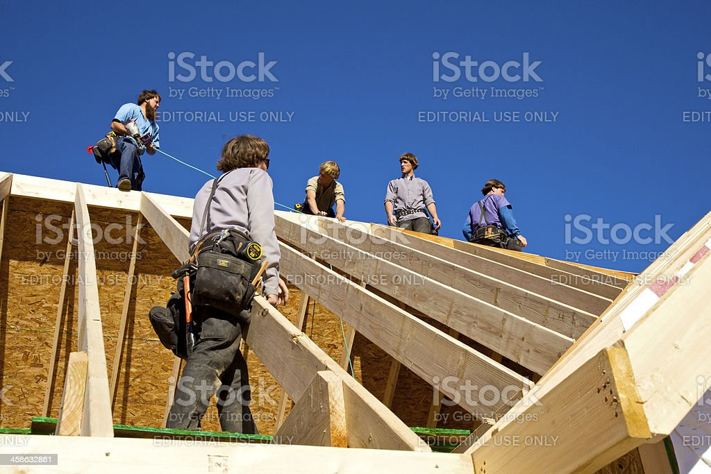 Working On Top stock photo
