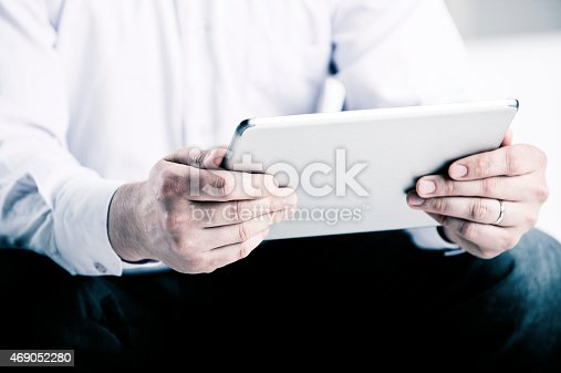 istock Working on touchpad 469052280