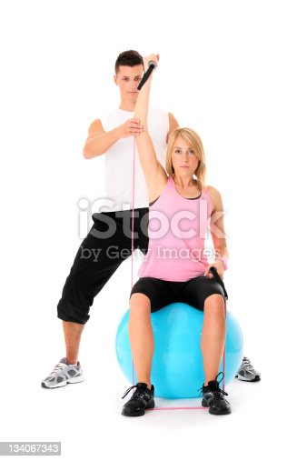 istock Working out couple 134067343