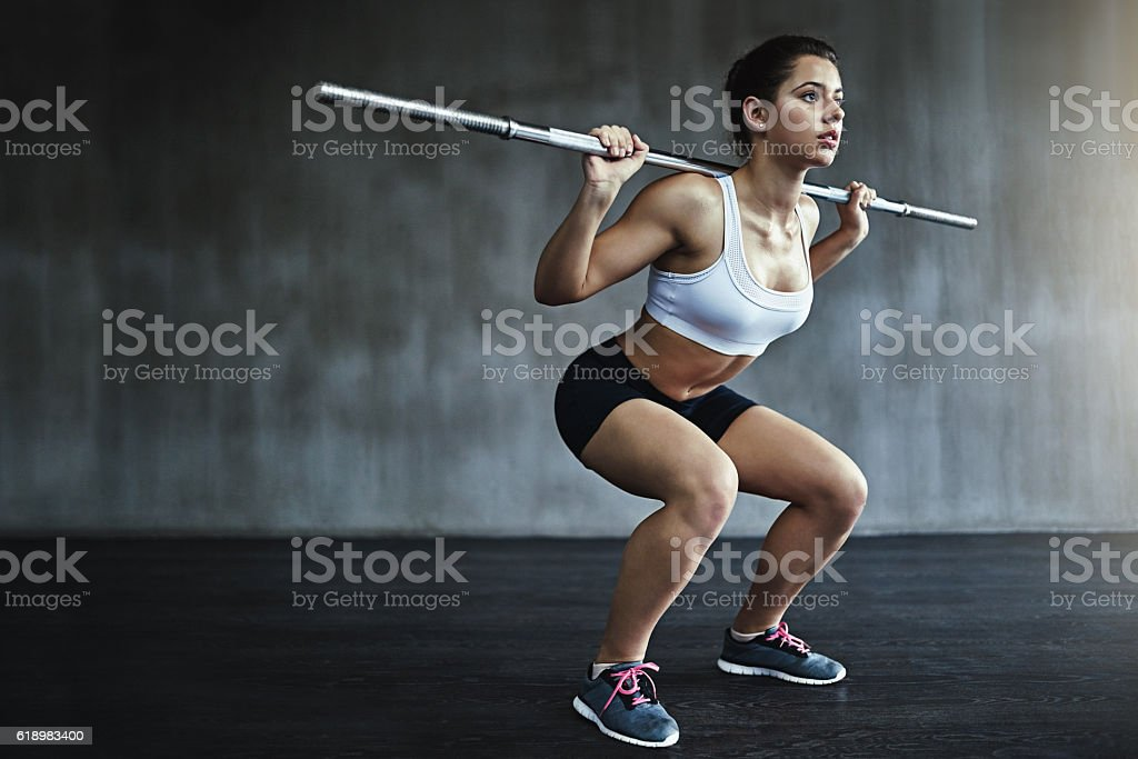 Working out is a form of self respect stock photo