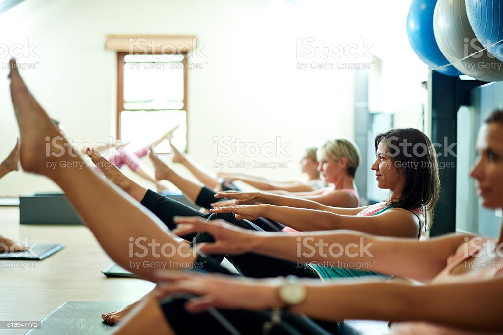 Working out is the best part of the day stock photo