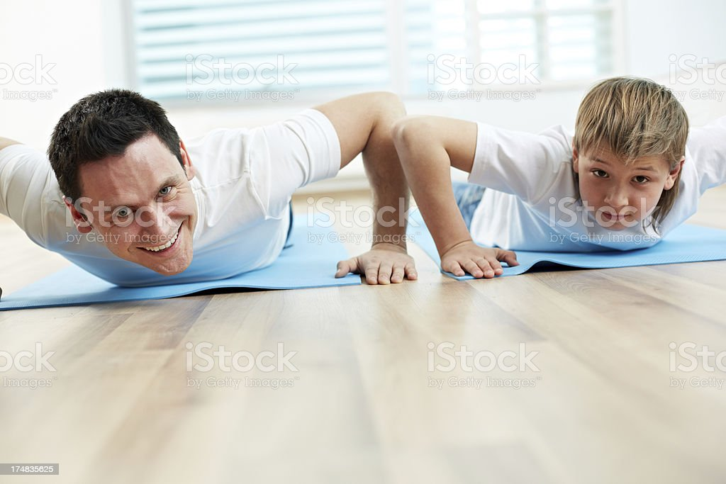 Working out royalty-free stock photo