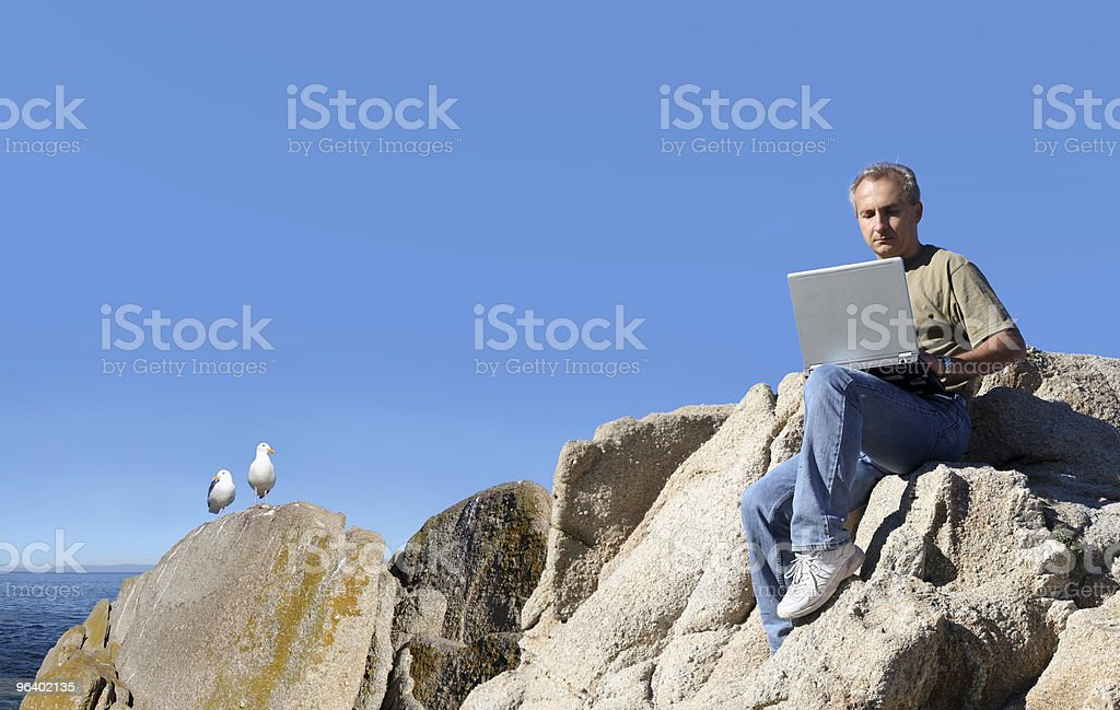 Working outdoor - Royalty-free Adult Stock Photo
