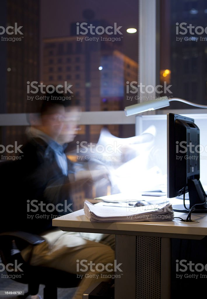 working over time royalty-free stock photo