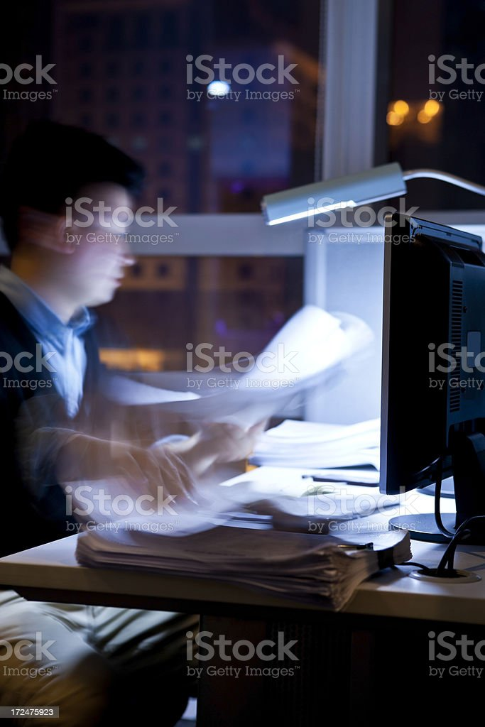 working over time stock photo