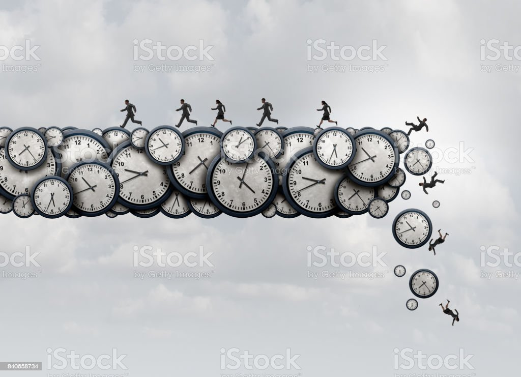 Working Overtime Health Risk stock photo