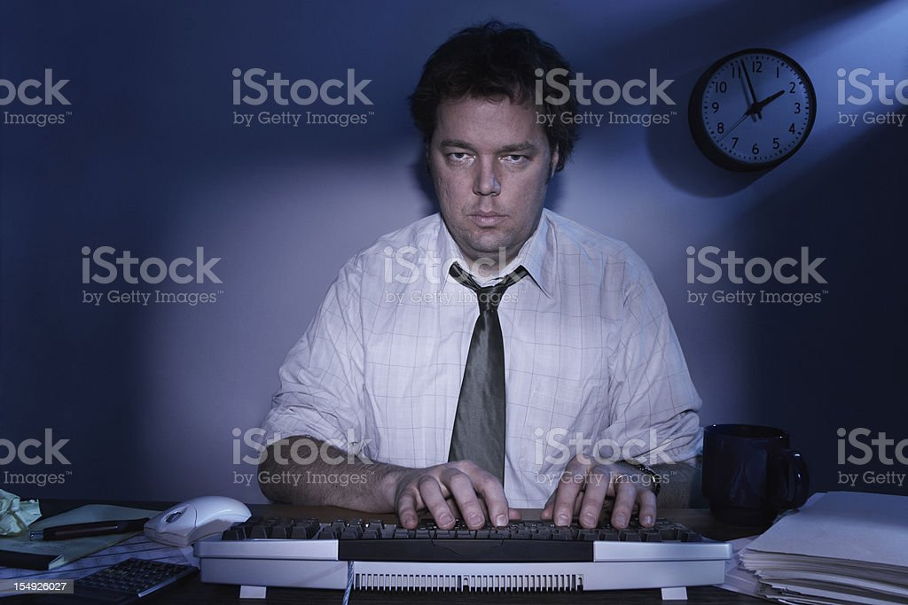 Working Overtime royalty-free stock photo