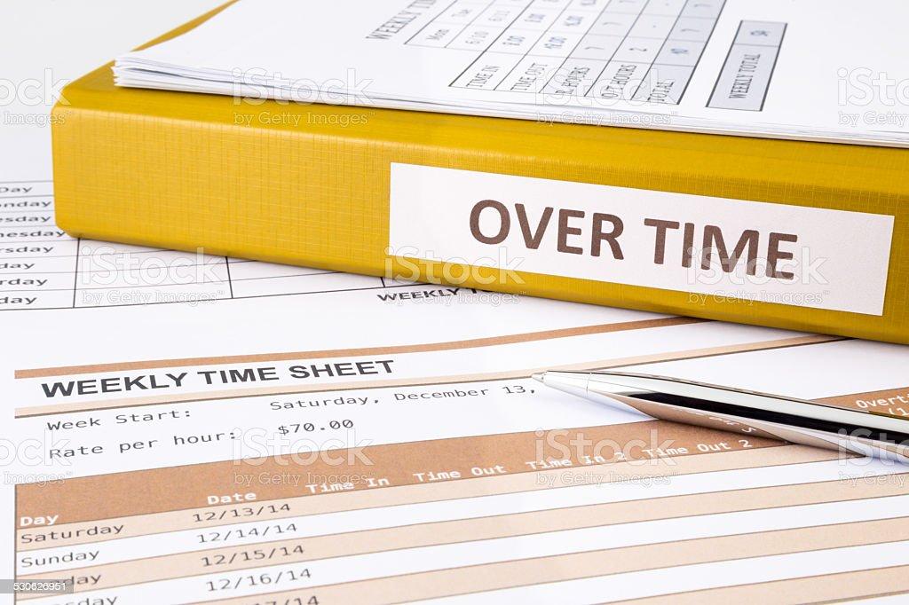 Working overtime stock photo