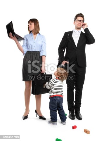 istock Working Parents - But Mom? I want to play! 155385758