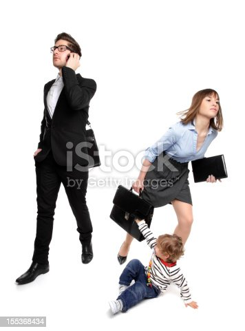 istock Working Parents - In a Rush! 155368434