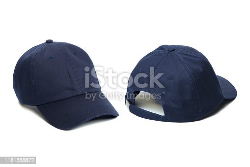 istock Working peaked cap. Isolated on a white background. 1181588872