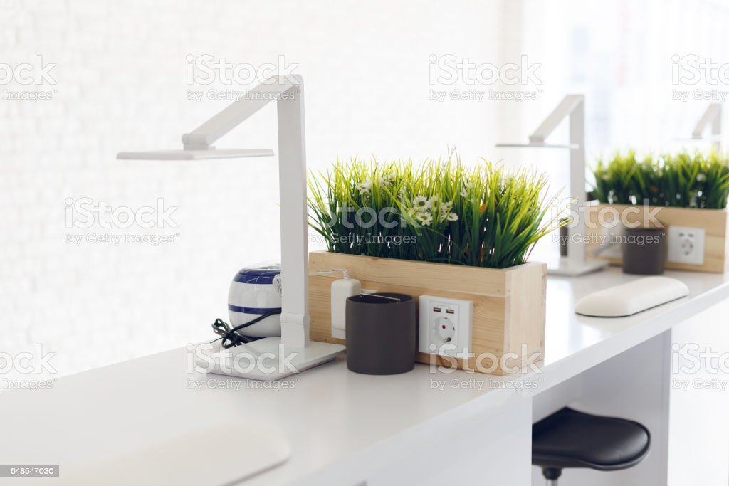 Working place for manicure master stock photo