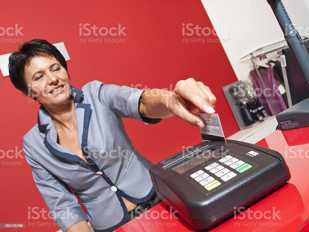 Working place in clothing Store royalty-free stock photo