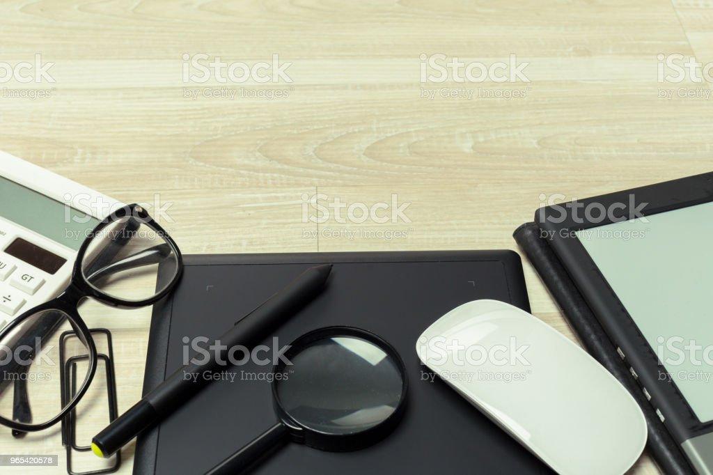 Working place of designer, close-up zbiór zdjęć royalty-free