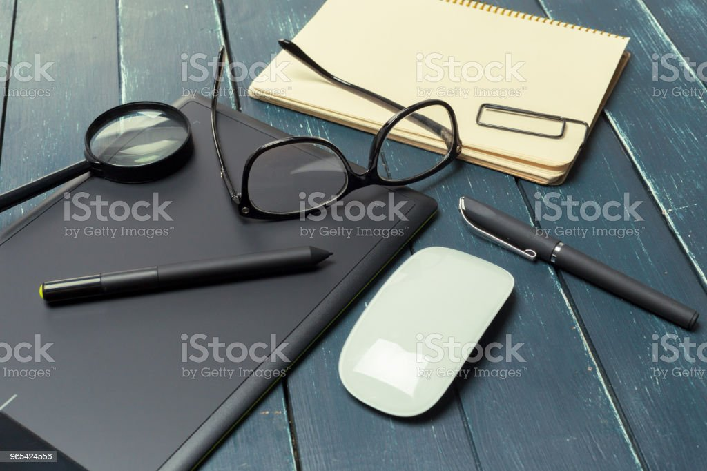 Working place of designer, close-up royalty-free stock photo