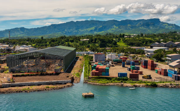 Ein arbeitende Hafen – Foto