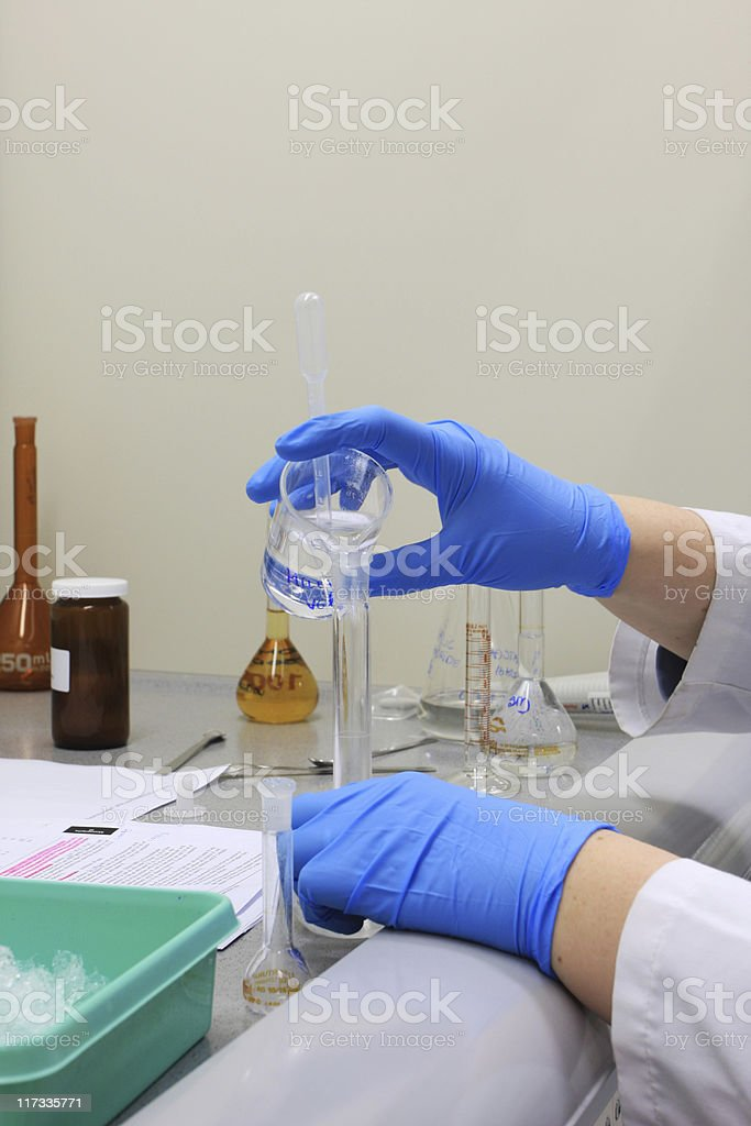 working scientist royalty-free stock photo