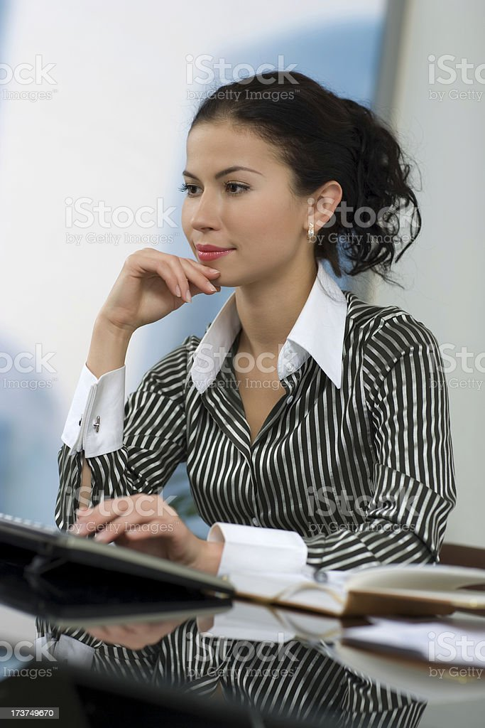 Working secretary royalty-free stock photo
