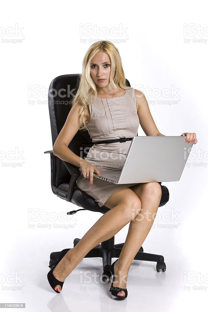 working seriously stock photo