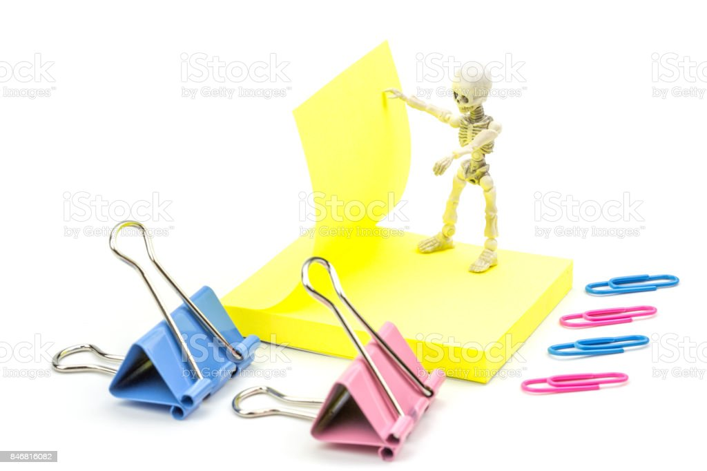 Working skeleton stock photo