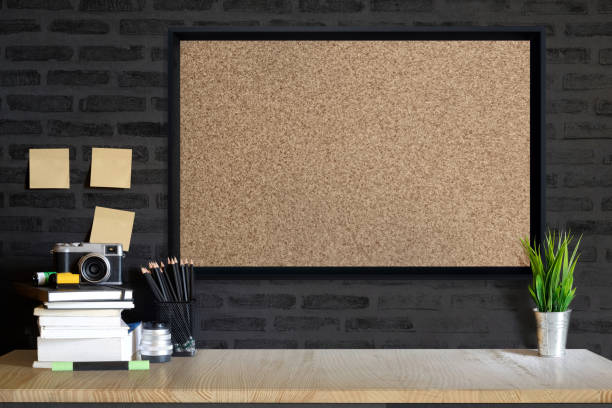 working space,working background ,interior of woking room - bulletin board stock pictures, royalty-free photos & images