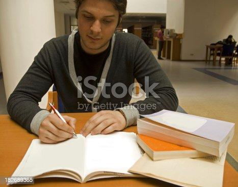 868148002 istock photo Working student 182689365