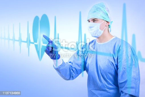 864464934istockphoto Working surgeon looking at heart beat rate 1137134955
