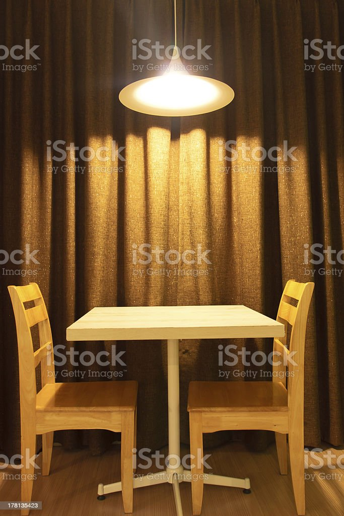 Picture of: Working Table And Chairs With Light Lamp Stock Photo Download Image Now Istock