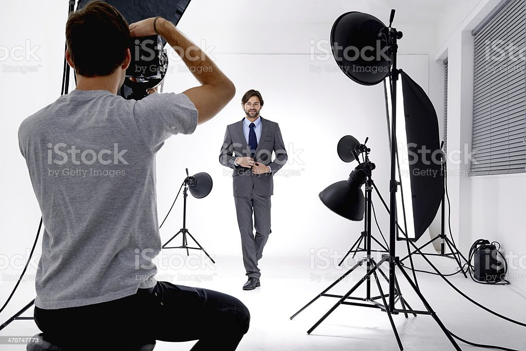 Working that studio! stock photo