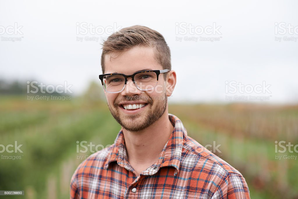 Working the land is tough but rewarding stock photo