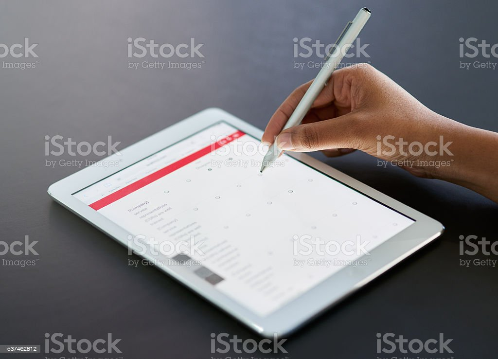 Working the modern way stock photo