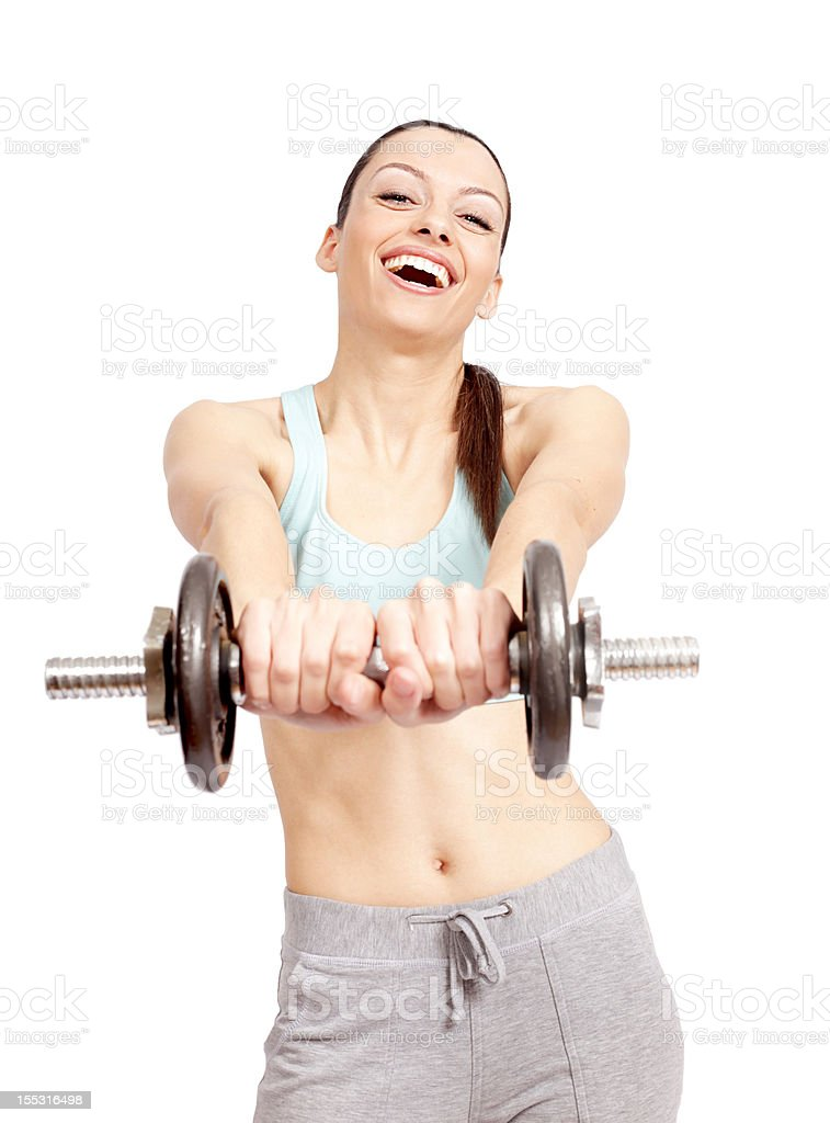 Working those arms stock photo