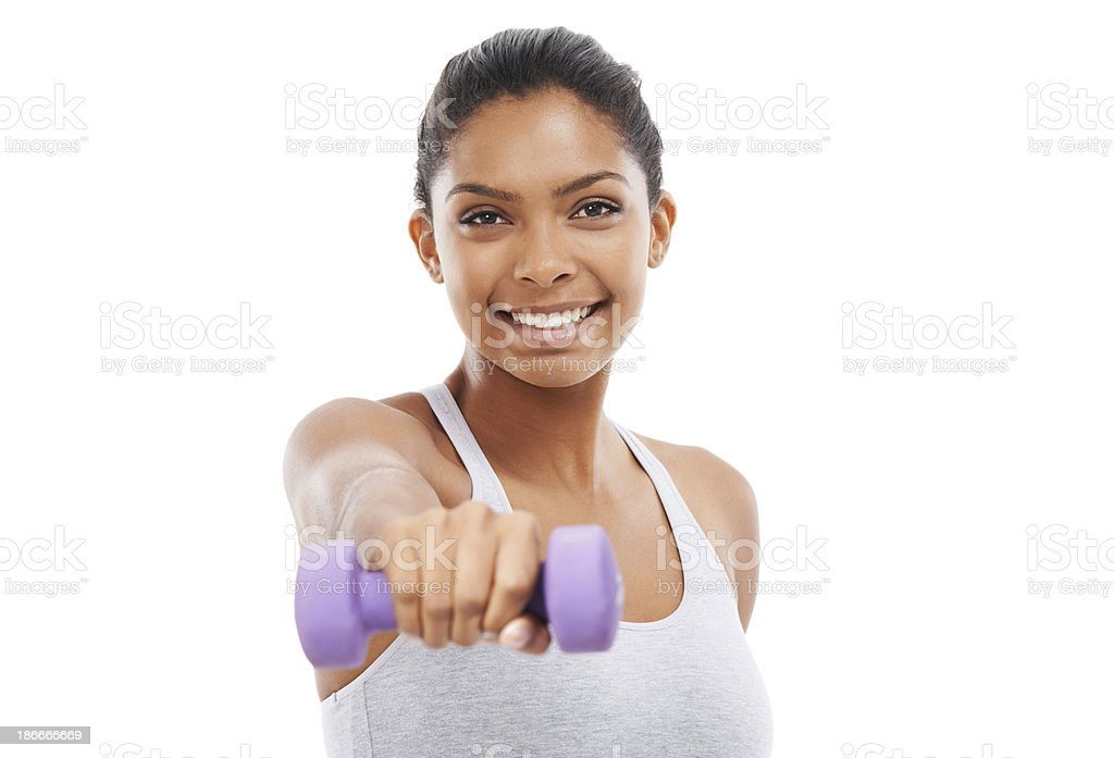 Working those weights for greater fitness! royalty-free stock photo