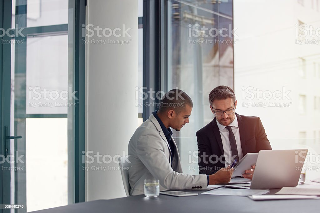 Working through some details stock photo