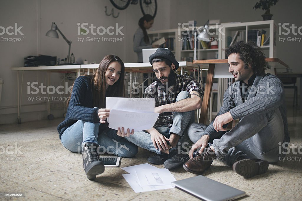 Working till late afternoon stock photo