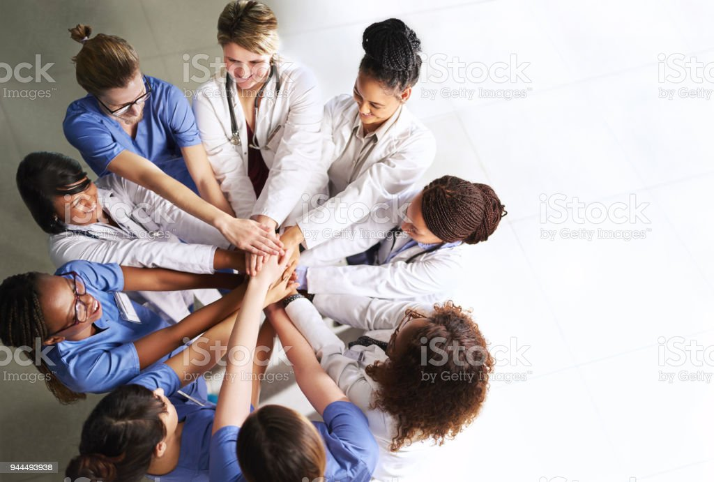 Working together for the betterment of your health stock photo