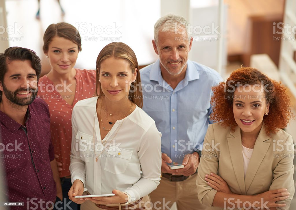 Working together is success stock photo