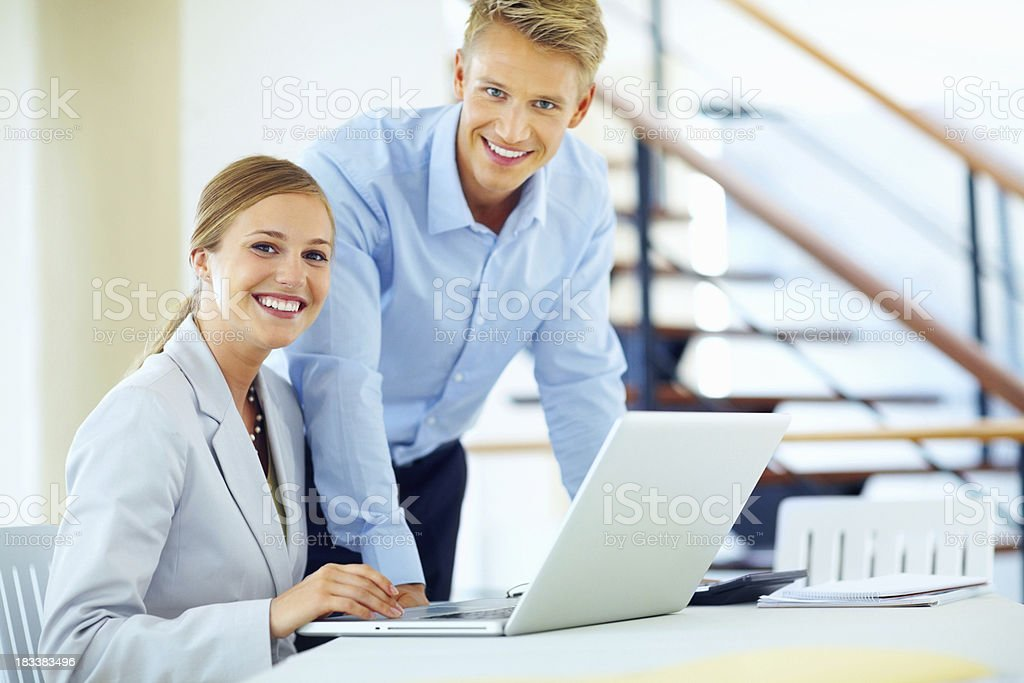 Working together on project royalty-free stock photo