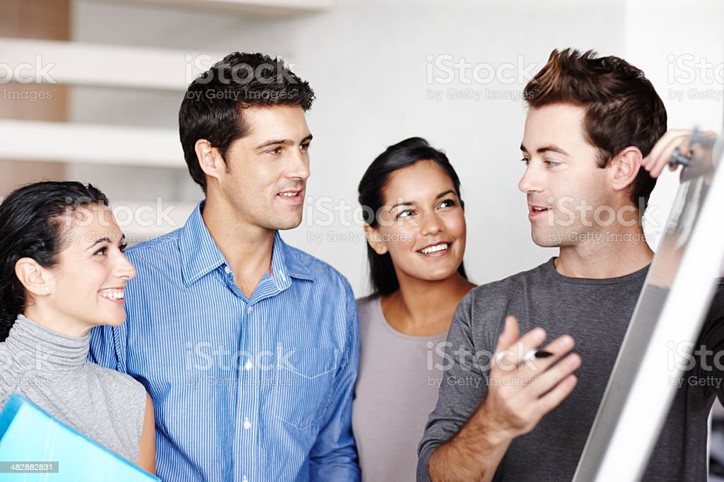 Working together to achieve the best design royalty-free stock photo