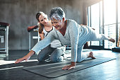 istock Working together to improve muscle strength and tone 621582470